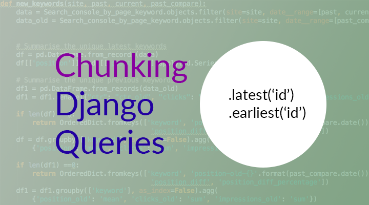iterating over a django query